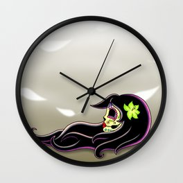 In the Wind - Day of the Dead Calaverita Wall Clock