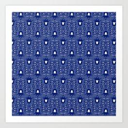 Les fleurs bleues en vol Art Print