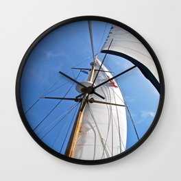 Raising the Jib Wall Clock