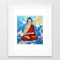 buddah Framed Art Prints featuring Adeptu Buddah by Conversa entre Adeptus