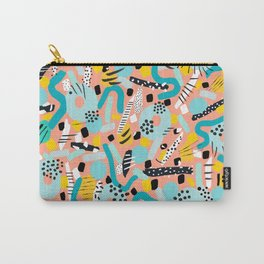 CIRCLES IN MOTION - peach/ yellow/ mint Carry-All Pouch