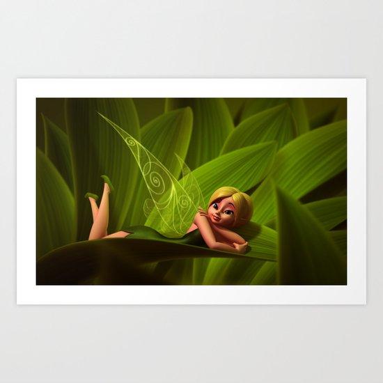 Leaves Fairy Art Print