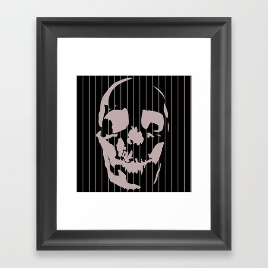 skull and stripes Framed Art Print