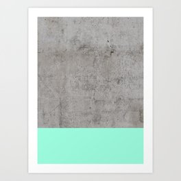 Sea on Concrete Art Print