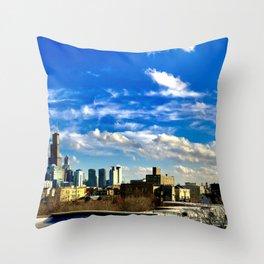 Panoramic Skyline Throw Pillow