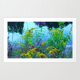 Flowery Hillside Art Print