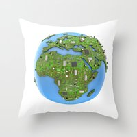 data Throw Pillows featuring Data Earth by GrandeDuc