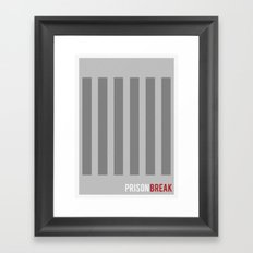 Prison Break - Minimalist Framed Art Print