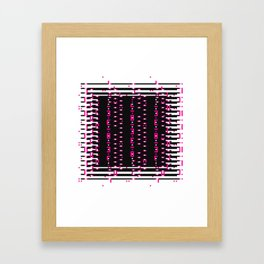 Licorice Bytes, No.11 in Black and Pink Framed Art Print