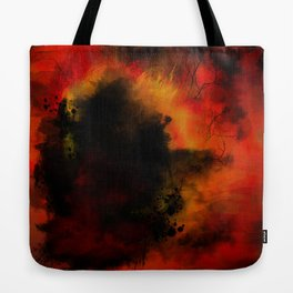 The Great Fire Abstract Tote Bag