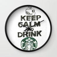 starbucks Wall Clocks featuring Starbucks by jrgff