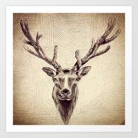 elk Art Prints featuring Elk  by Werk of Art