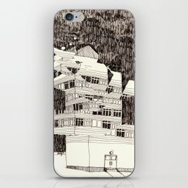 Deconstructed Buildings at Night iPhone Skin