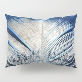 Feather | Feathers | Spiritual | White and Blue Feather | Nature Pillow Sham