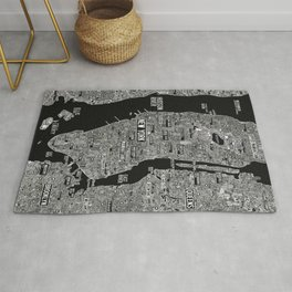 Cool New York city map with street signs Rug