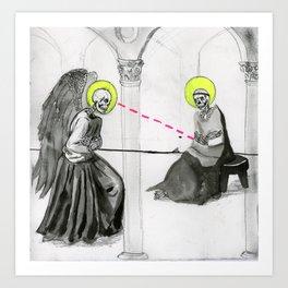 The UNHOLY Annunciation  Art Print