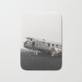 Plane wreck in Iceland photo. Travel photography Bath Mat
