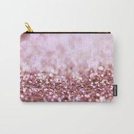 Pink Sparkle shiny glitter effect print - Sparkle Valentine Backdrop Carry-All Pouch