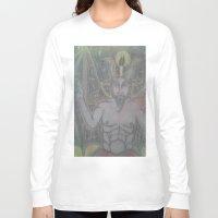 baphomet Long Sleeve T-shirts featuring BAPHOMET by Kathead Tarot/David Rivera
