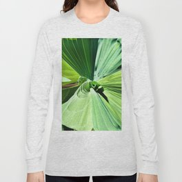 416 - Abstract Plant Design Long Sleeve T-shirt