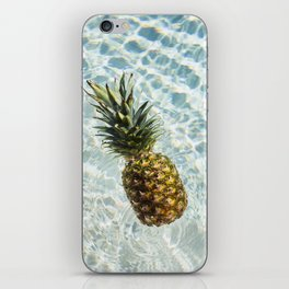 Floating on Cool Sunny Water Pineapple Fruit Summer Happiness Pop Art Modern Chic Home Decor Gallery iPhone Skin