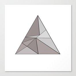 Graphic . geometric shape gray Canvas Print