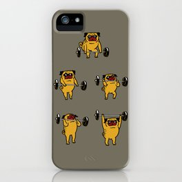 Pug Clean and Jerks iPhone Case