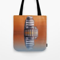 art deco Tote Bags featuring Art Deco by Shalisa Photography