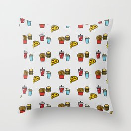 Baesic Fast Food Pack Throw Pillow