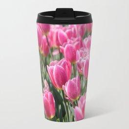 Field of Pink Tulips Travel Mug