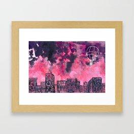 building watercolor city Framed Art Print
