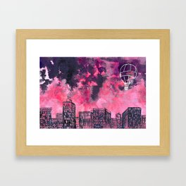 building watercolor city Framed Art Print
