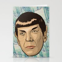 spock Stationery Cards featuring Spock by Mimi