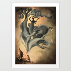 The Smoker Art Print