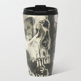 Inktober skull Travel Mug