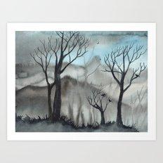 Ghost Trees Art Print