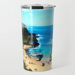 Halona Beach Cove ... By LadyShalene Travel Mug