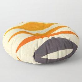Vintage Scandinavian Orange Geometric Triangle Pattern Floor Pillow