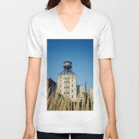 portland V-neck T-shirts featuring Portland by Richard PJ Lambert