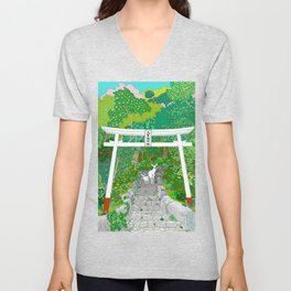 Path to the Sacred Forest Unisex V-Neck