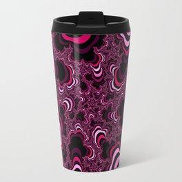 Pink abstract pattern. Striped pattern. Travel Mug