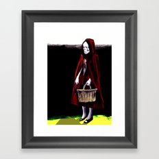 Little Blood Red Riding Hood Framed Art Print