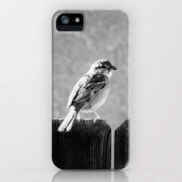 Sparrow BW iPhone Case
