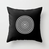 buddhism Throw Pillows featuring MANDALA IM ZÜRICH by THE USUAL DESIGNERS