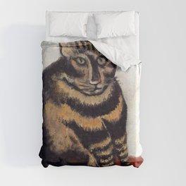 Henri Russeau, Tabby 1963, Naive Cat Artwork for Wall Art, Prints, Posters, Tshirts, Men, Women, You Duvet Cover