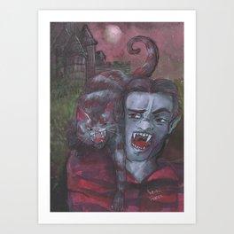 Dracula and Catt Art Print