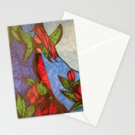 Rose Garden at Twilight Stationery Cards