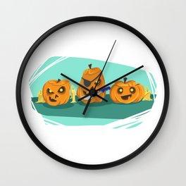 Silly Halloween Pumpkins Wall Clock