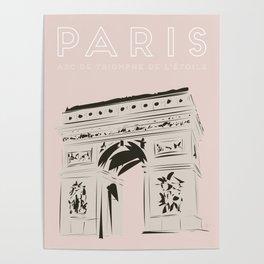 Paris Arc de Triomphe de l'Étoile Travel Poster Poster