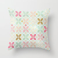moroccan Throw Pillows featuring MOROCCAN TILE by Monika Strigel